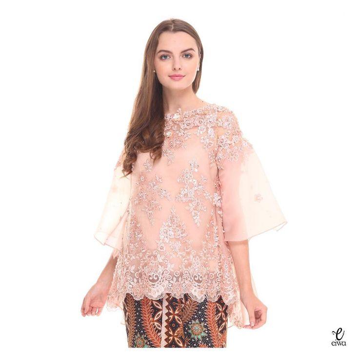 lace top kebaya modern brokat organza @eiwaonline