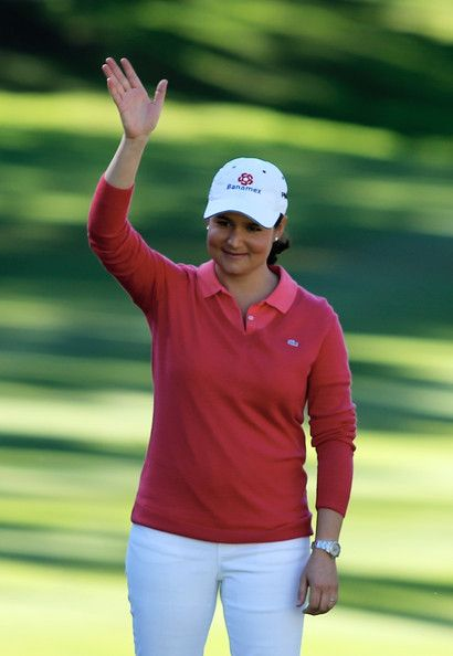 Tournament host Lorena Ochoa of Mexico waves to the gallery during the prize giving after the final round of the Lorena Ochoa Invitational Presented by Banamex at the Guadalajara Country Club on November 17, 2013 in Guadalajara, Mexico.