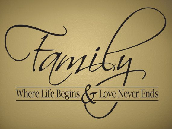 Large Removable Family Wall Decal by QuotesNDesigns on Etsy