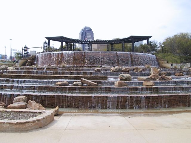 Shreveport riverfront Fountain, Shreveport, Louisiana