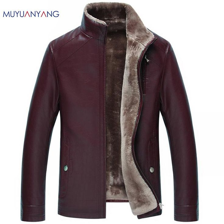 High Quality Men Leather Jacket and Coat Casual Fashion Faux Leather Jackets Zipper Fur Clothing Overcoat