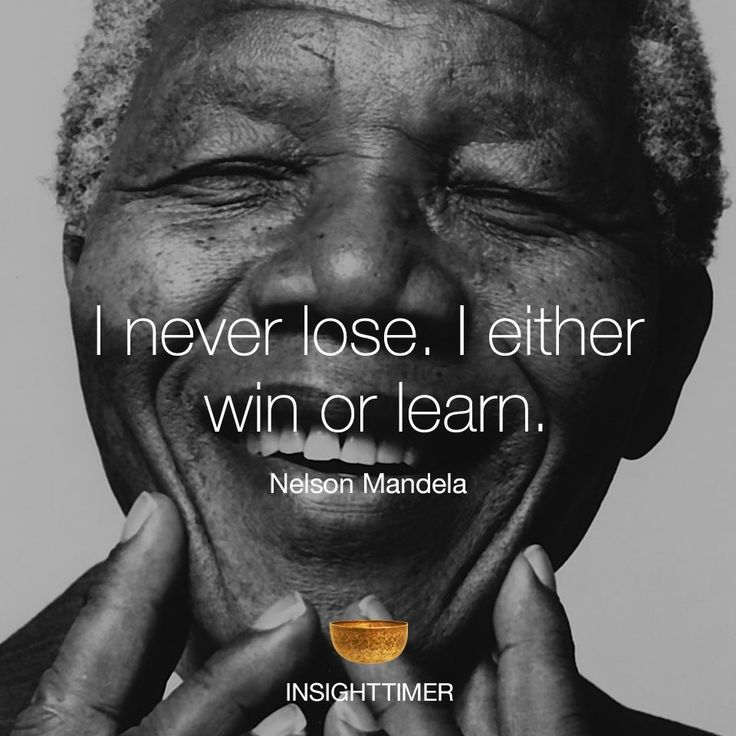 Nelson Mandela quote,... the landlord's mindset too. They know the pros and cons to learn from experience quickly.