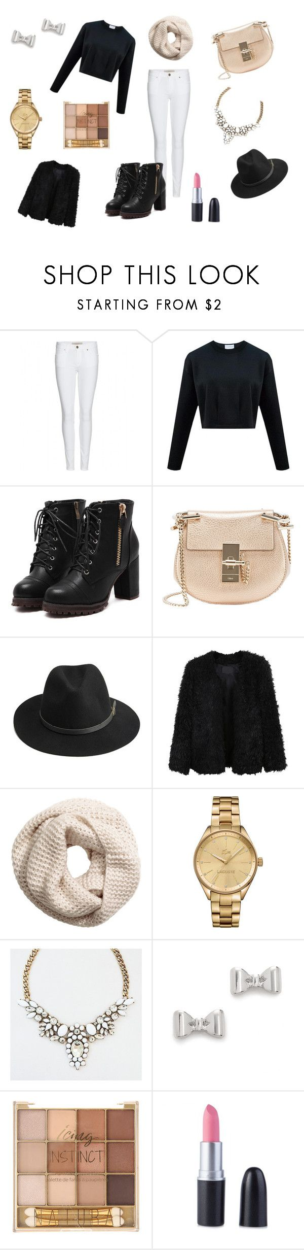 """louly live"" by dagusia112 on Polyvore featuring moda, Burberry, Chloé, BeckSöndergaard, LE3NO, H&M, Lacoste i Marc by Marc Jacobs"