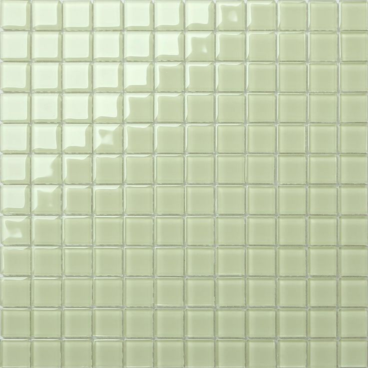 Plain Light Green Glass Mosaic Tiles Sheet. This organic tile is ...