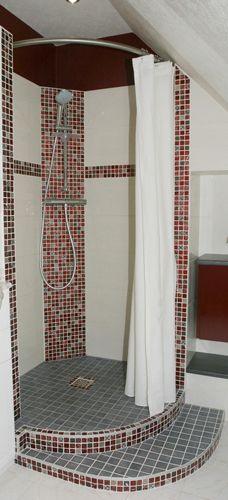 douche italienne quart de rond et barre de rideau de douche galbobain ts95  le rideau de douche 89541ef39d07
