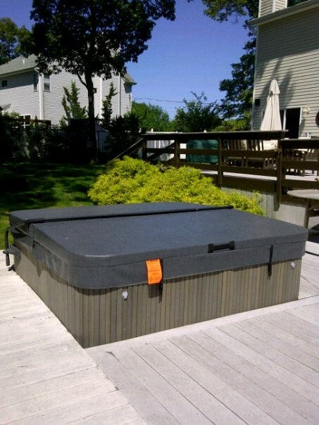 Now thats a Happy Hot Tub again  Thanks Cover guy! Hot tub cover from www.TheCoverGuy.com