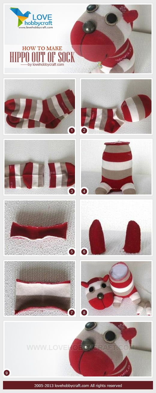 DIY Sock Hippo Tutorial