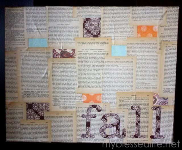 fall canvas craft tutorial