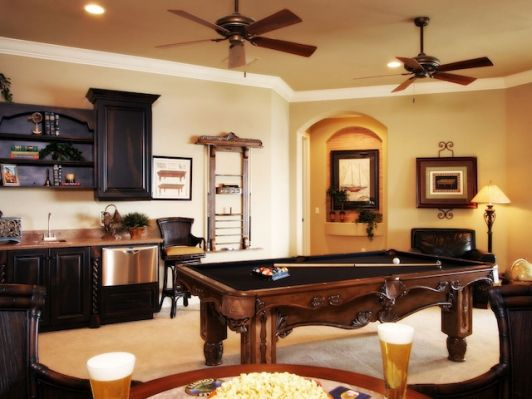 Game Rooms with Wet Bar