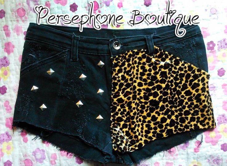 #short #DIY #leopard #shorts #costumizer