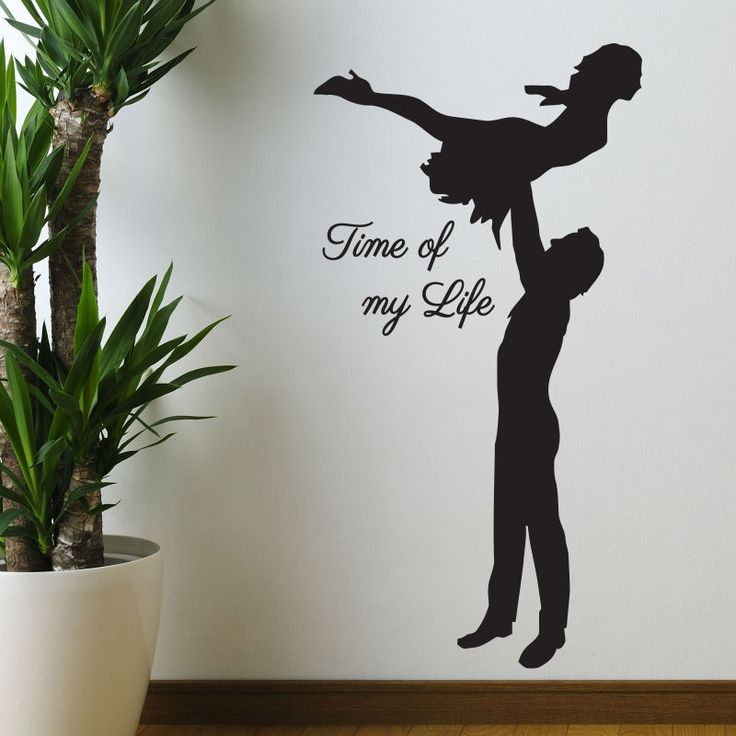 DANCING Time Of My Life Dirty Dancing Wall Art Stickers Decals Home DIY Decoration Wall Mural Removable Room Decor Wall Stickers