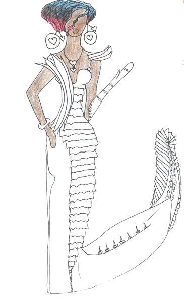 """Свадебное платье """"Драконовый змей"""" (мой эскиз)  Wedding Dress """"The draconian snakes"""" (my sketch)  #fashion #Style #мода #design #designer #дизайнер #стиль"""