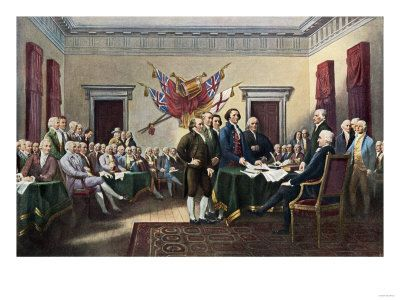 1776,  July 4~ Declaration of Independence~ Signing the Declaration of Independence, July 4, 1776 ...
