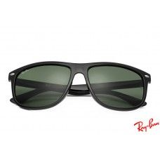 RayBans RB4147 Wayfarer sunglasses with black frame and green lenses