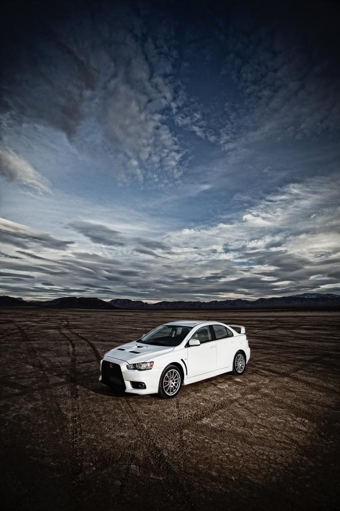 2010 - Mitsubishi Lancer Evolution X in the desert.
