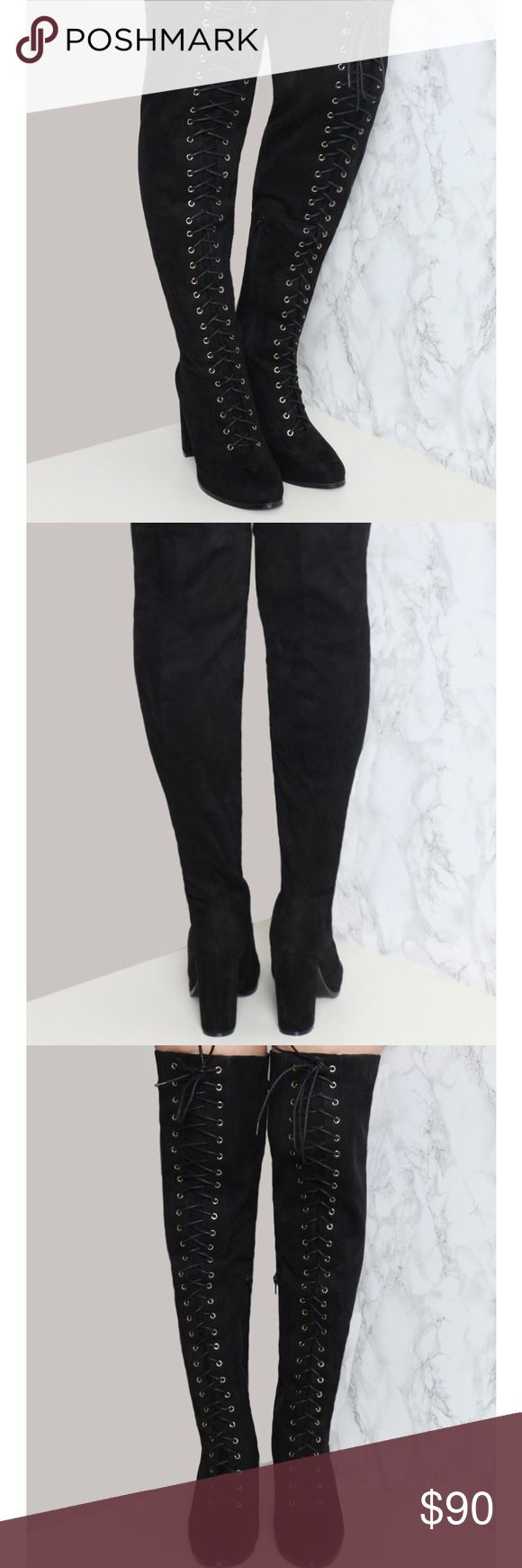 Black thigh high boots Worn once, great condition - the brand is N.Y.L.A. but they were bought on the gypsy warrior website gypsy warrior Shoes Over the Knee Boots