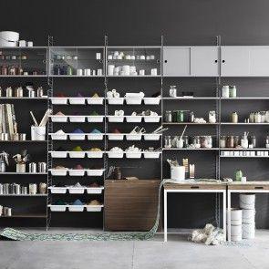 Display Cabinet vitrinekast String grijs | Musthaves verzendt gratis