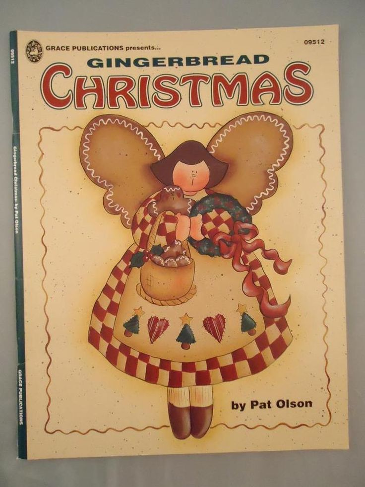 Gingerbread Christmas Pat Olson Tole Folk Art Decorative Painting Patterns Book
