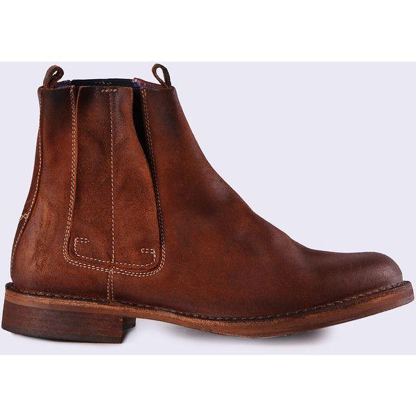 Diesel D-PIT CHELSEA Boots ($300) ❤ liked on Polyvore featuring men's fashion, men's shoes, men's boots, boots, brown, men, shoes, mens brown leather boots, mens brown boots and mens brown chelsea boots