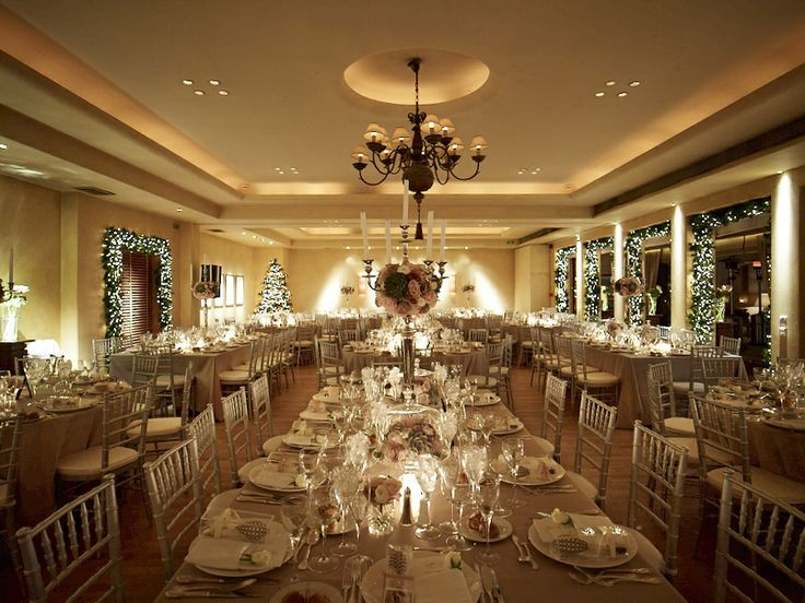 Magical atmosphere of the dinner area and delicate arrangement of the tables!