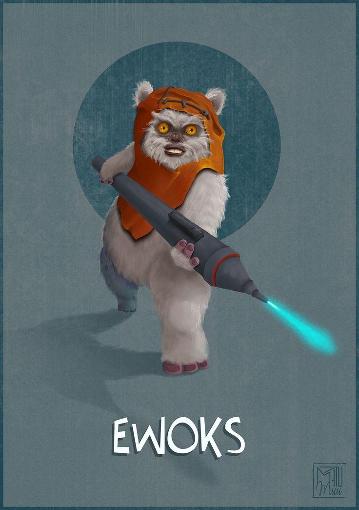 #ewoks / #endor / #starwars / #digitalpainting / #illustration //