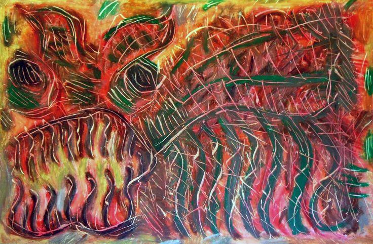 """""""Scarafaggio II"""" 2012 Tecnica mista su cartoncino 38x58 ©Pietro Gargano"""
