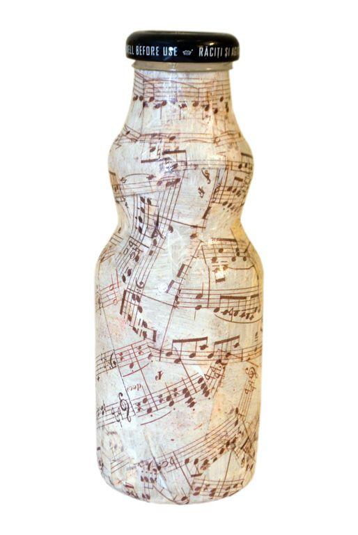 """Sticla decorativa """"note muzicale"""" (9 LEI la pia792001.breslo.ro)"""