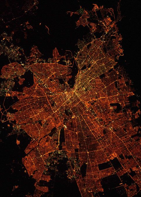 Santiago, Chile from the International Space Station