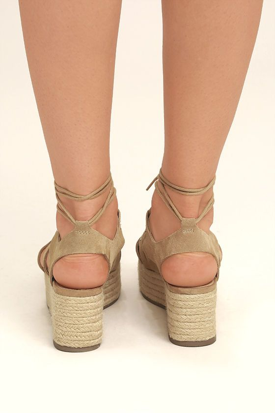b2d59291a22 The Steve Madden Brayla Sand Suede Leather Espadrille Wedges capture all of  our favorite trends!