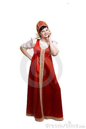 Traje tipico Rusia Mujer