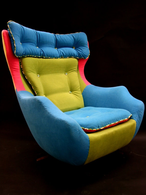 Fred A reupholstered 1960's swivel egg chair by katepritchard,