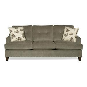Craftmaster 725200 Transitional Sofa With Low Profile Arms And Nailhead  Trim   Old Brick Furniture