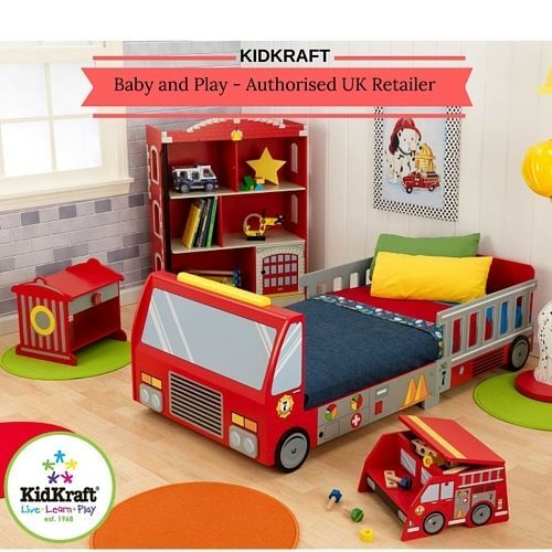 KIDKRAFT FIRE TRUCK TODDLER BED - BOYS FIRE ENGINE JUNIOR BED