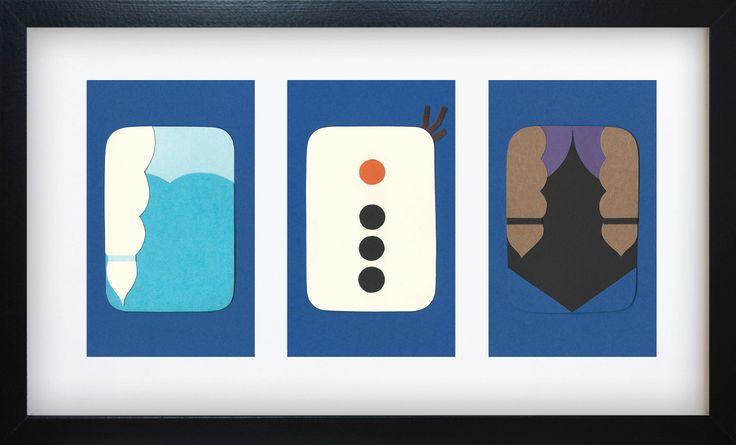 Handmade Minimalist Frozen Poster - Framed