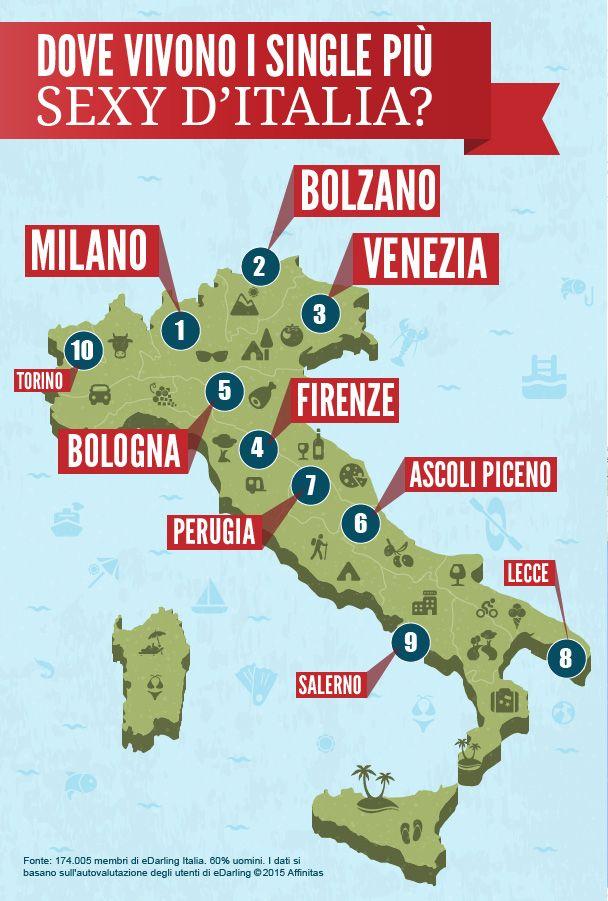 Dove vivino i single più sexy d'Italia? Ecco l'infografica di eDarling  #singleitalia #incontri #edarlingitalia