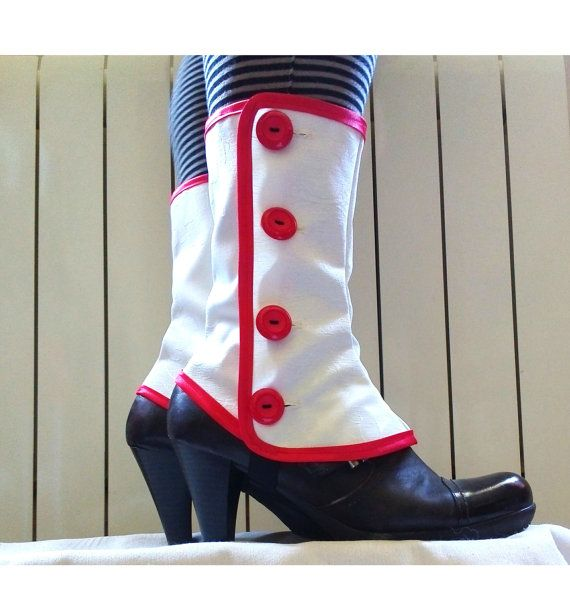 Mary Poppins Medium white spats waterproof by PasiondeSastre