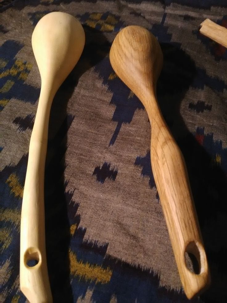 My second and 3rd ever hand carve spoons. of Beech and White Oak