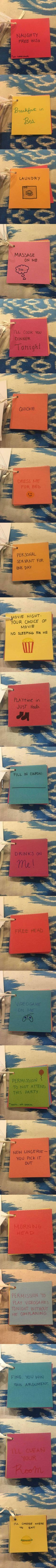 This Guy's Girlfriend Made Him Coupons For Their Anniversary - 9GAG