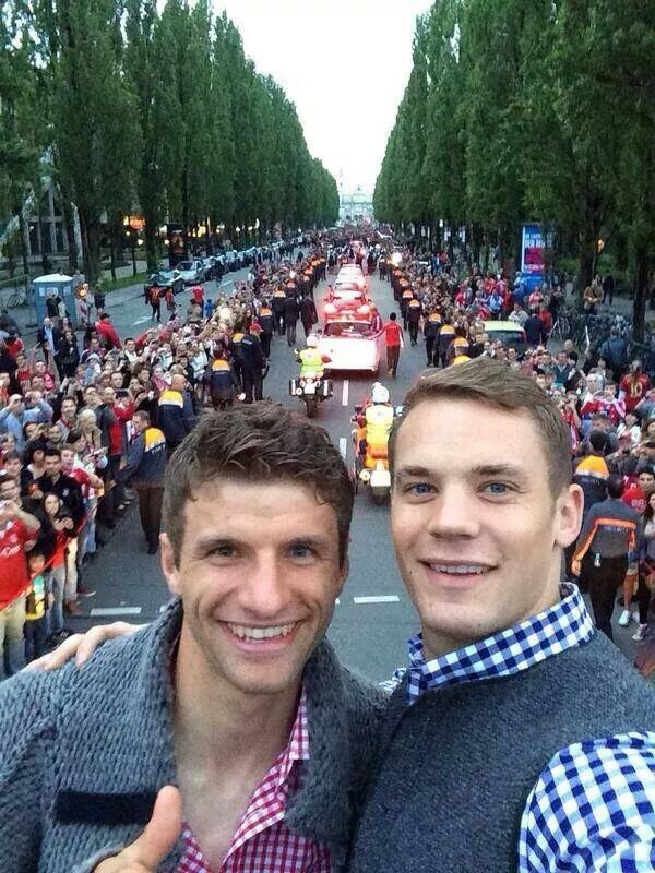 Manuel Nuer and Thomas Muller.