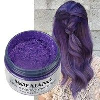 Wish | Professional Healthy Men and Women  One-time DIY Hair Color Wax dye Molding Paste Styling Hair Color Cream