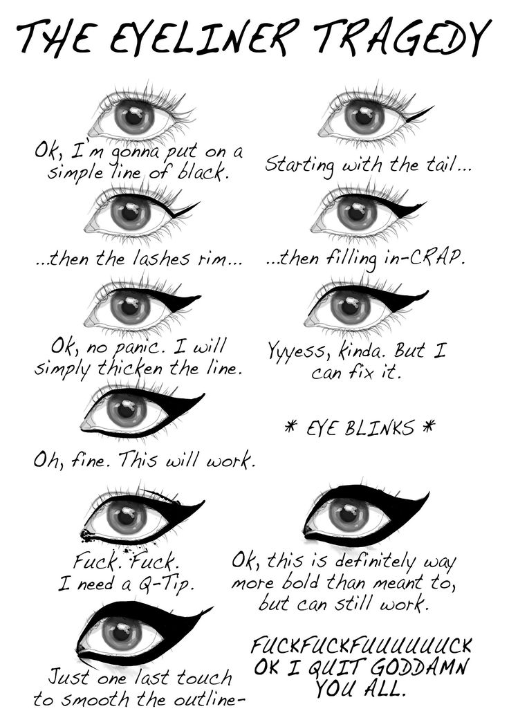 #blacklinerproblems: Make Up, Makeup, Eyeliner Tragedy, Menu, My Life, So True, Funny Stuff, Humor, True Stories