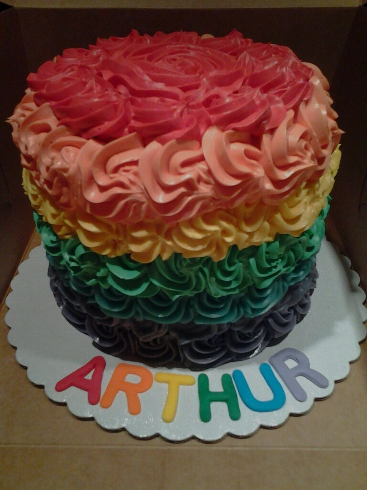 Rainbow smash cake by AshBaby Confections + Catering