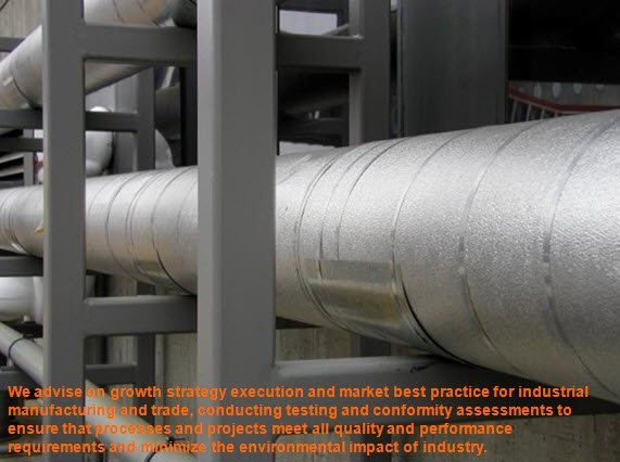 Industrial:  Our Industrial business line offers many different services from ensuring the asset integrity management to project finance consultancy services for just a few out of the many offered.