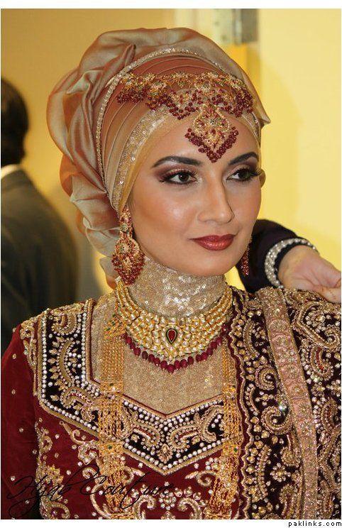 Latest Bridal Hijab Dresses Designs Collection 2016-2017 (13)