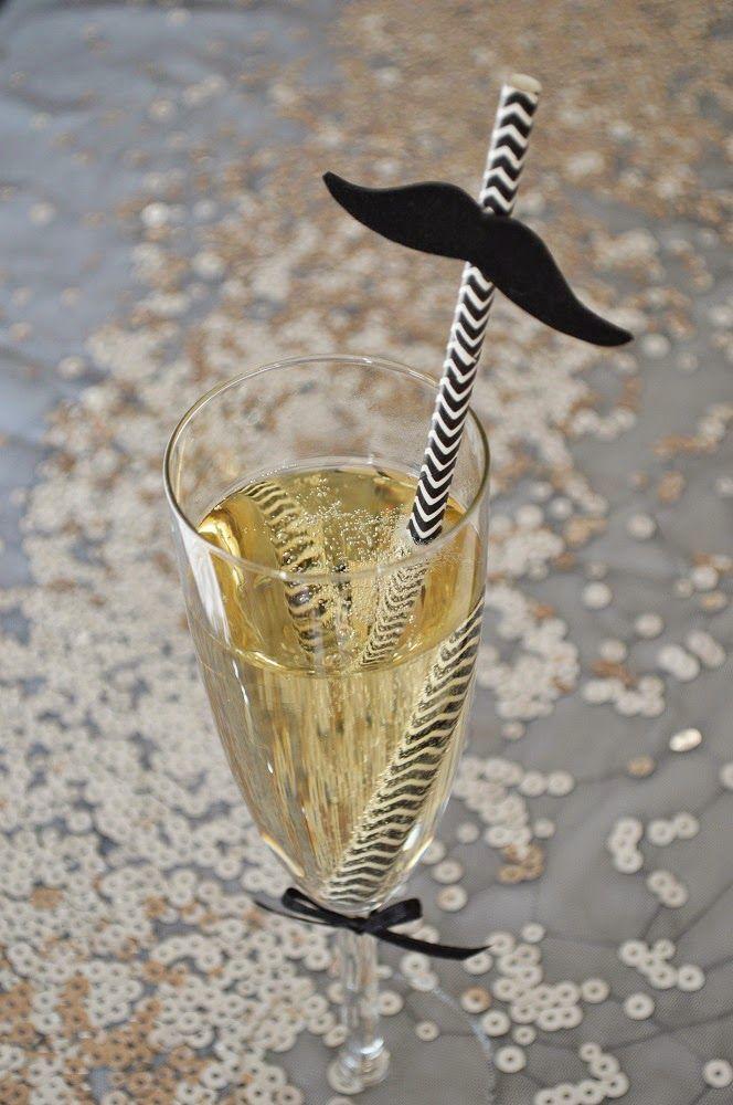 szilveszter, new year's eve, moustache, champagne, diy
