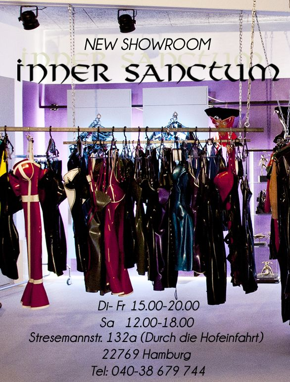 Visit Inner Sanctum's new latex showroom in Hamburg, Germany