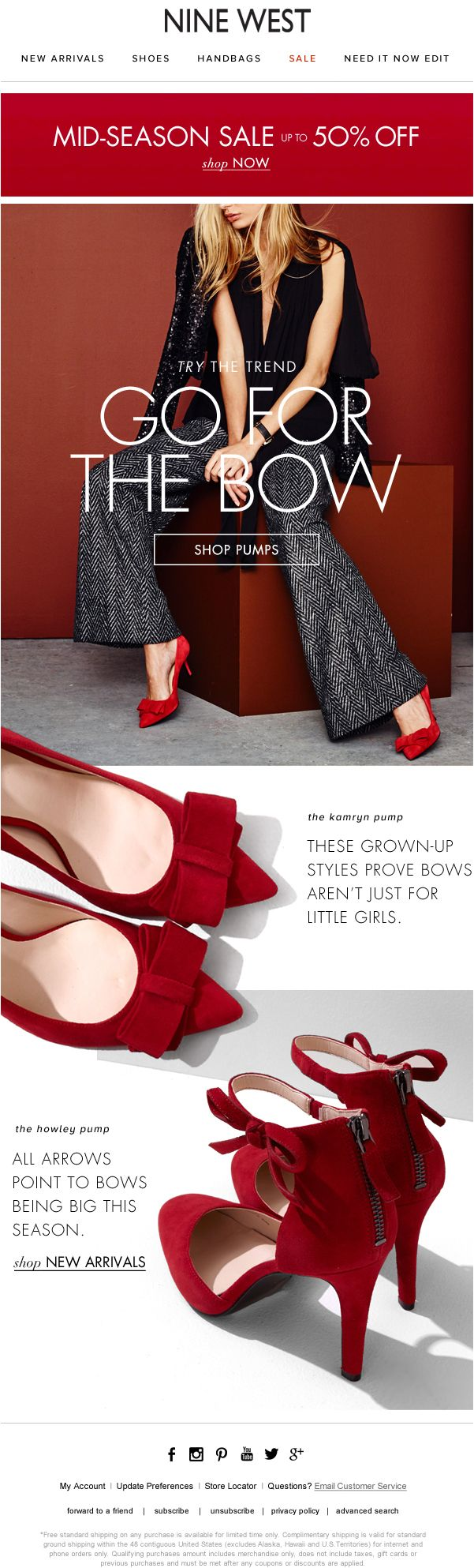 #ninewest #mosborne #email #layout #shoes