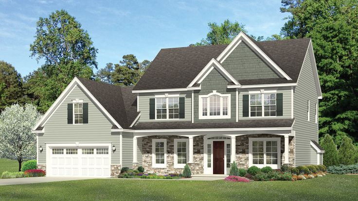 Floor Plan AFLFPW77050 - 2 Story Home Design with 3 BRs and 2 Baths