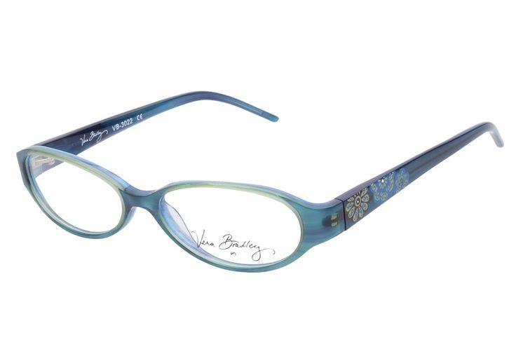 Vera Bradley VB3022 MFB Mod Floral Blue eyeglasses are whimsicaly ...