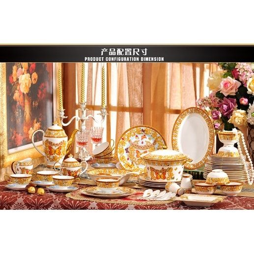 Luxury Design European Royal Butterfly Bone China Dinnerware Set 69 piece service for 6 *closeout  sc 1 st  Pinterest & Luxury Design European Royal Butterfly Bone China Dinnerware Set 69 ...